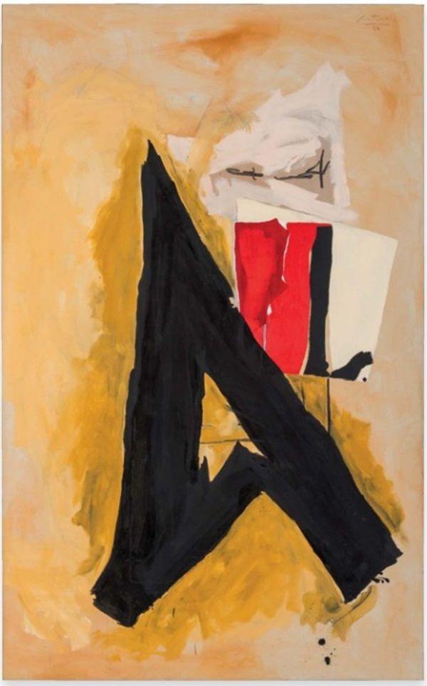 Robert Motherwell, The Big A (1986-1987)  via A Look at Robert Motherwell's Market - artnet News