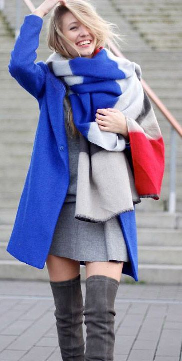 I've just bought a version of this colour Block Oversized Scarf