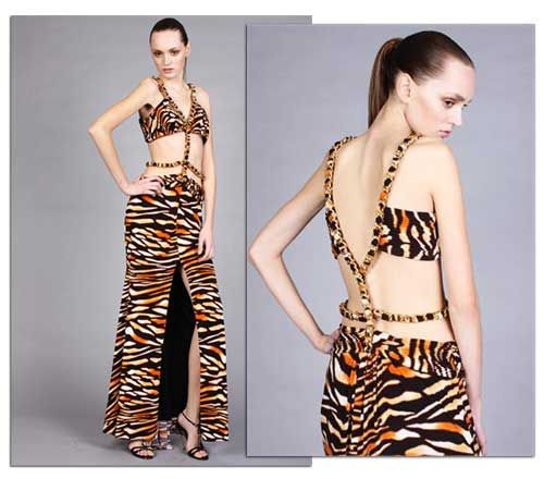 ugly clothes | Ugly Prom Dress Arrest: Animal print - now with added belly-flashing ...
