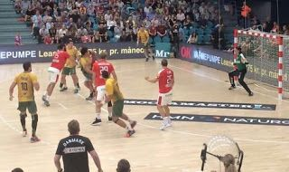 Blog Esportivo do Suíço:  Em preparação para o Rio 2016, seleção de handebol perde para a Dinamarca