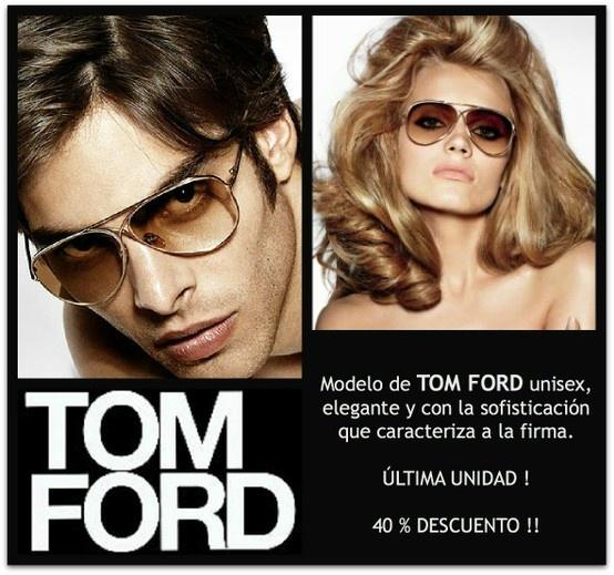 Maravilloso modelo de TOM FORD unisex, última unidad, ahora con un 40% de descuento.