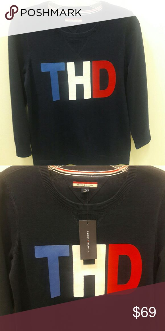 Tommy Hilfiger Logo tshirt Tommy Hilfiger women's tee. Soft and simple, this sweatshirt  Collection. • Classic fit. • 100% cotton. • Custom appliqué. • Machine washable. Tommy Hilfiger Tops Tees - Long Sleeve