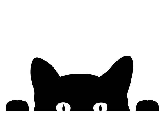 Patterned Cat Face Animal Car Bumper Sticker Decal 3/'/' 5/'/' or 6/'/'