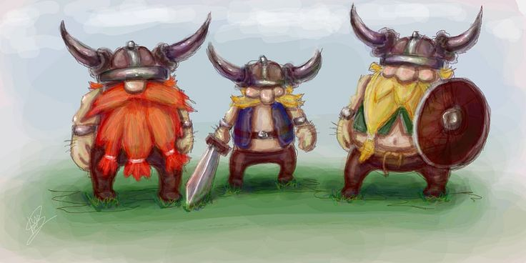 Art on the game - Lost Vikings