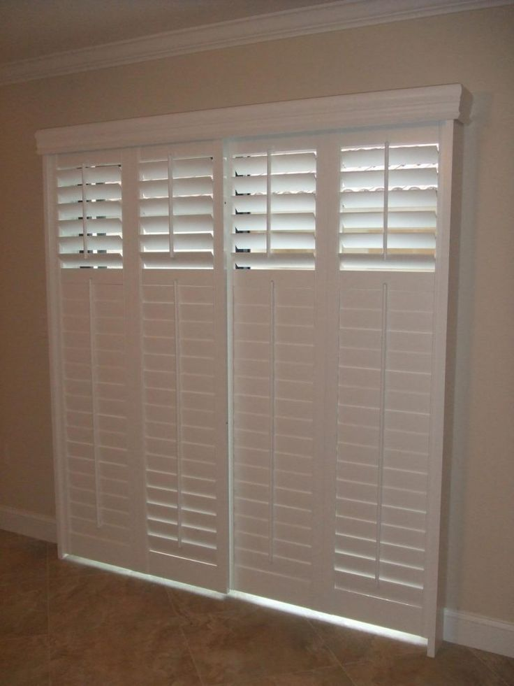 195 best window treatment shutters images on pinterest for Custom patio doors