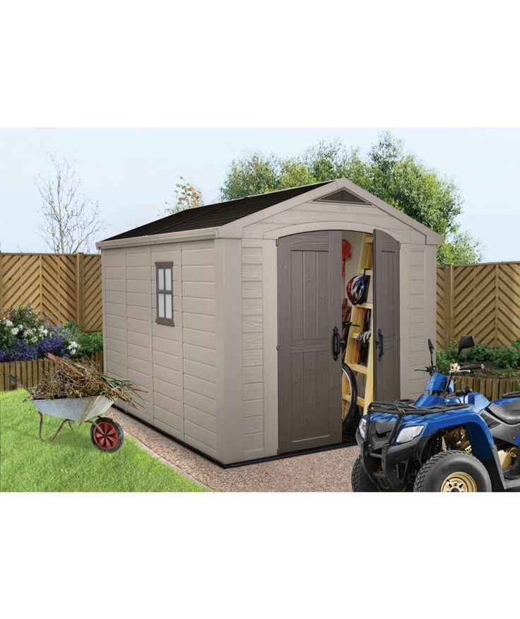 Buy Keter Apex Plastic Garden Shed - 8 x 11ft at Argos.co.uk - Your Online Shop for Sheds.