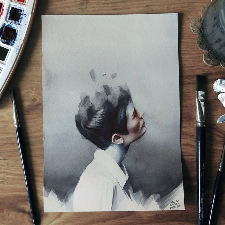 Small watercolor painting    #face #portrait #hair #woman #watercolor #painting #paint #art #artwork #watercolorpainting #watercolorart #aquarelle #akvarell #brush #paper #miro_z #waterblog #cartel_watercolorists #arts_help #beautifulbizarre #artcomplex #drawingthesoul #artist_4_shoutout #onyxkawai #artwhisper
