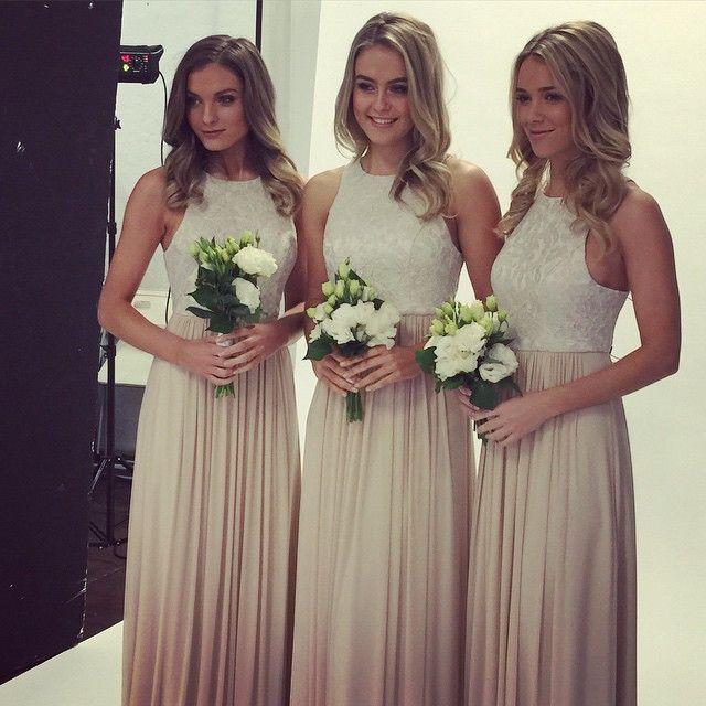 lace top bridesmaid dress,long bridesmaid dress,o neck bridesmaid dress,2016 bridesmaid dress,BD1624