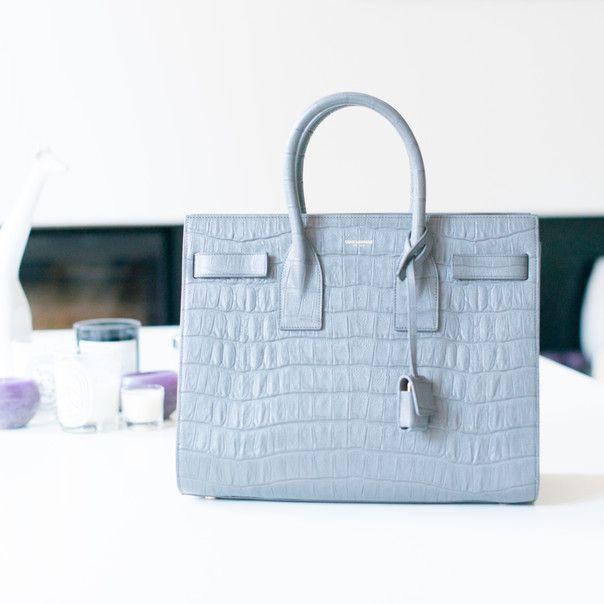 ec8b9e27b5f baby blue alligator saint laurent sac de jour. #bagporn | I ❤ Handbags! |  Sac, Saint laurent et Python