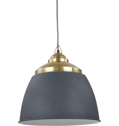 Guama Pendant Light, Dark Grey & Atq Brass