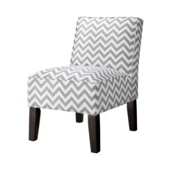 Armless Upholstered Accent Slipper Chair - Gray Chevron Quick Information - Great find from Target