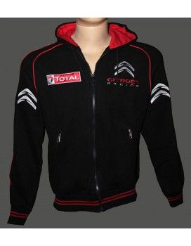 Citroen Black High Quality Hooded Fleece Jacket With embroidered logos http://autofanstore.com