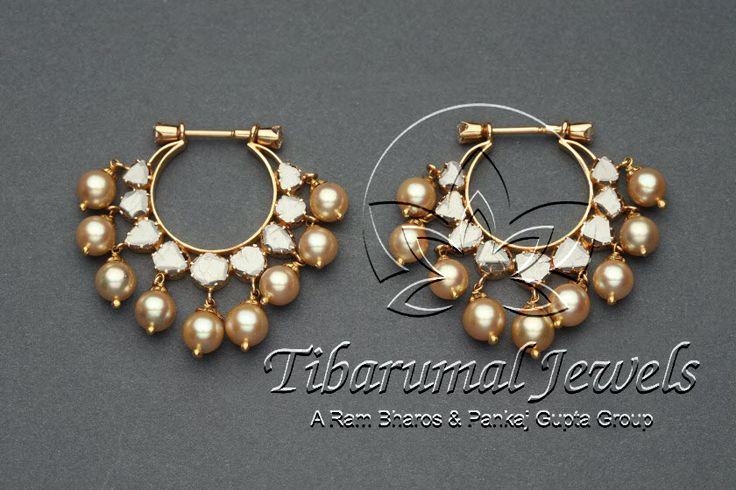 Chand Bali | pearls and diamonds