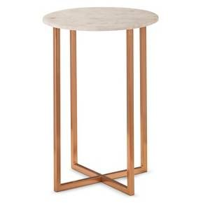 Threshold Copper Accent Table With Marble Top Client Kb