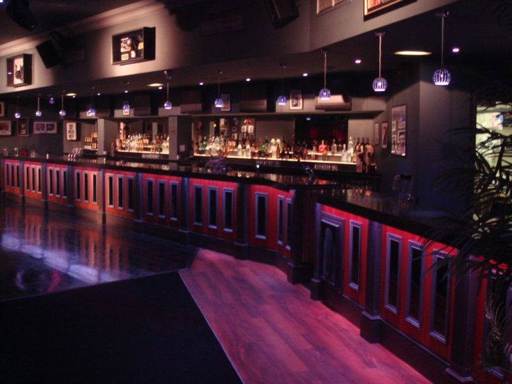 Led lighting by abstract avr around a bar front led light lighting