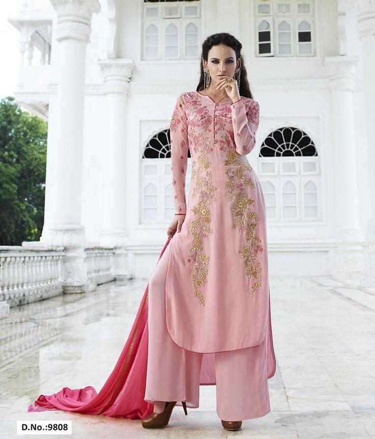 165 mejores imágenes de Straight Cut Salwar Suits en Pinterest ...