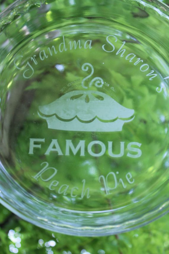 Personalized Pie Dish - Etched Glass on Etsy, $20.00