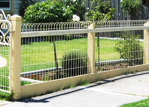 17 best images about see through fencing ideas on for Front garden fence designs