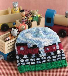 pattern for Fair Isle knitted Frilly Pixie hat - Google Search