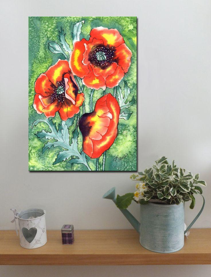 POPPIES http://www.splashyartystory.com/shop/art-prints/poppy/