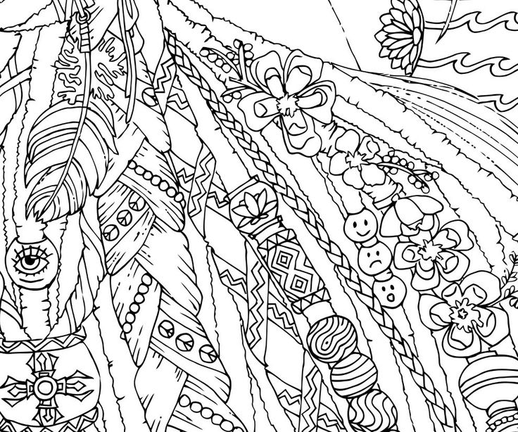 hippie coloring pages free - photo#31