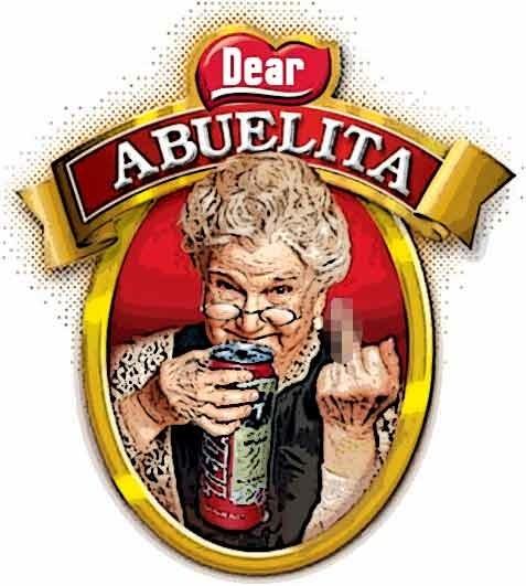 Abuelita prefers Tecate.