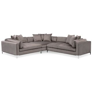 Amazing Moda Piece Sectional with Right Facing Chaise Oyster
