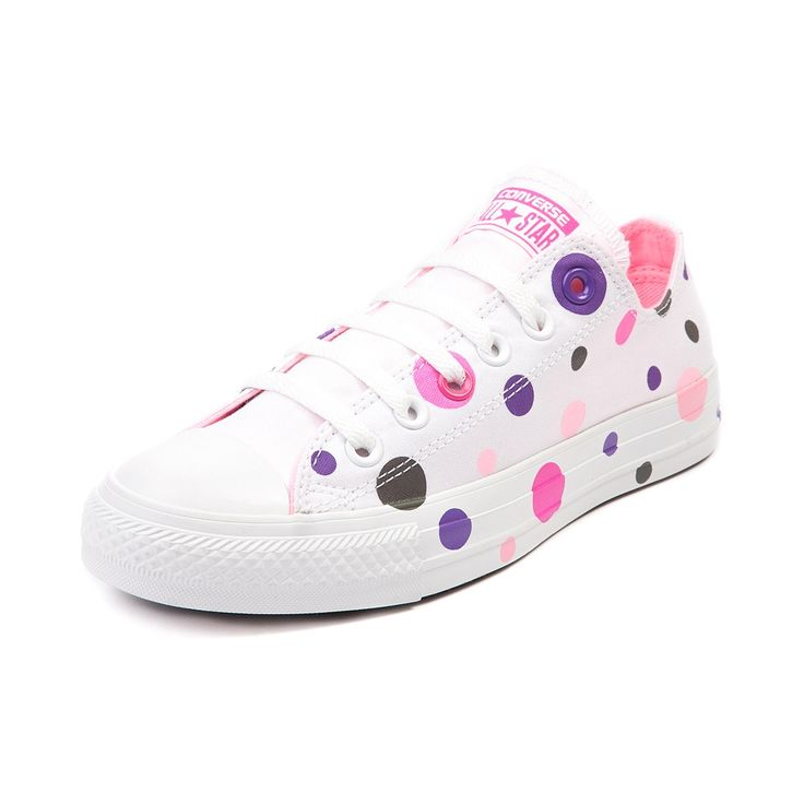 Brand New Pink And Purple Spotted Converse Size4