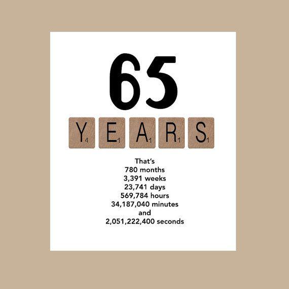 65th Birthday Card Masculine Birthday Card by DaizyBlueDesigns
