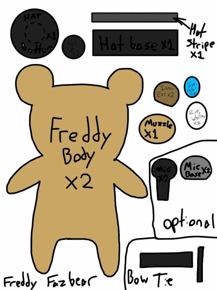 Freddy fazbear plush template by trinitythewerewolf33 deviantart com