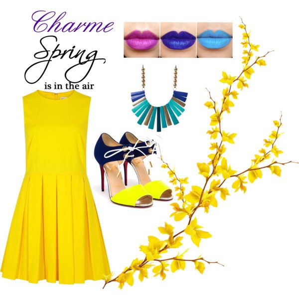 Charme Spring by monicamaria-1 on Polyvore featuring RED Valentino and Christian Louboutin