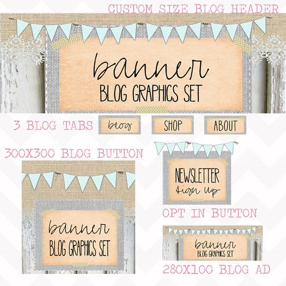 Website Header, Opt in Image. Graphic Design. Turquoise Bunting. Vintage  Modern. Rustic Barnwood. Shabby Chic. | Pinterest | Website header,