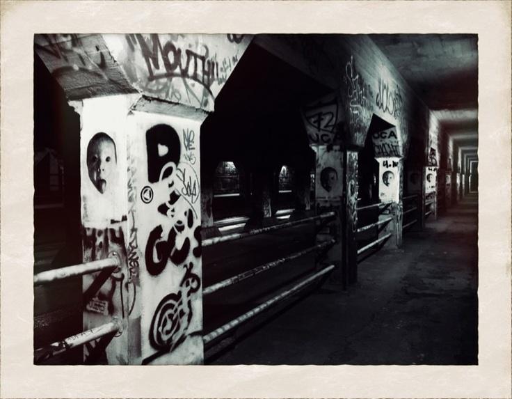 kidOH art, Krog Street Tunnel, ATL. wheatpaste street art.