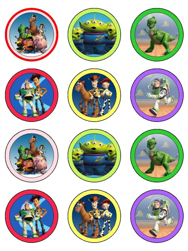 Items Similar To Printable Toy Story Themed Birthday Cupcake Toppers