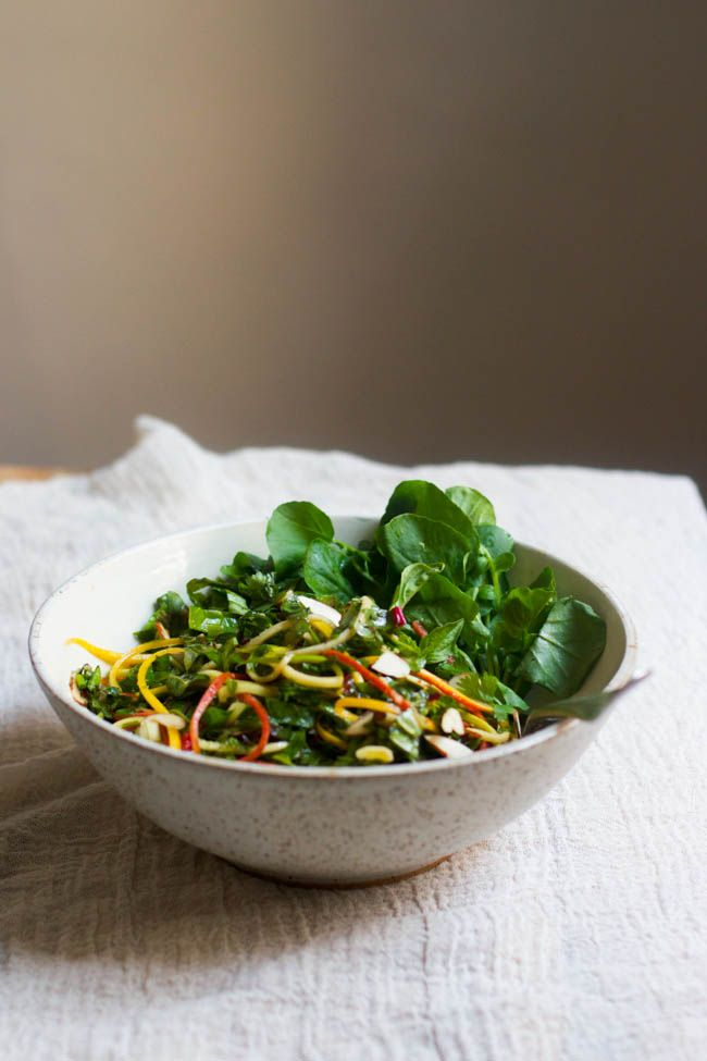 Wholehearted Eats : Rainbow Chard Coleslaw with Mixed Herbs
