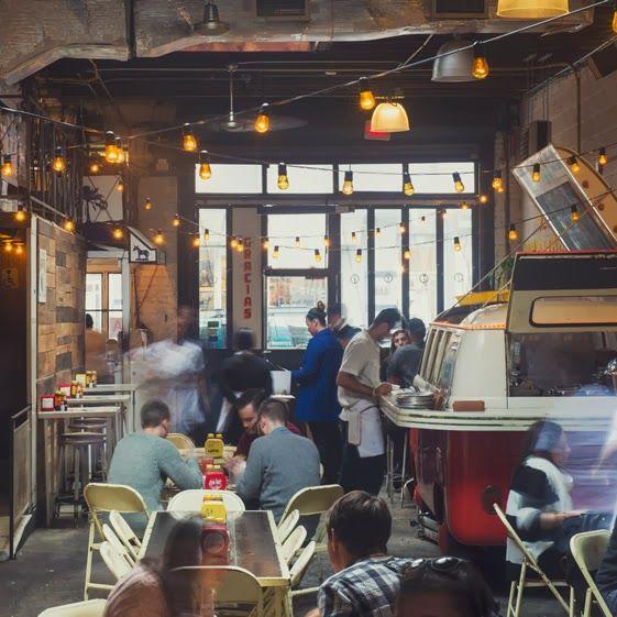 3 restaurants ? String lights, Design and Restaurants in manhattan