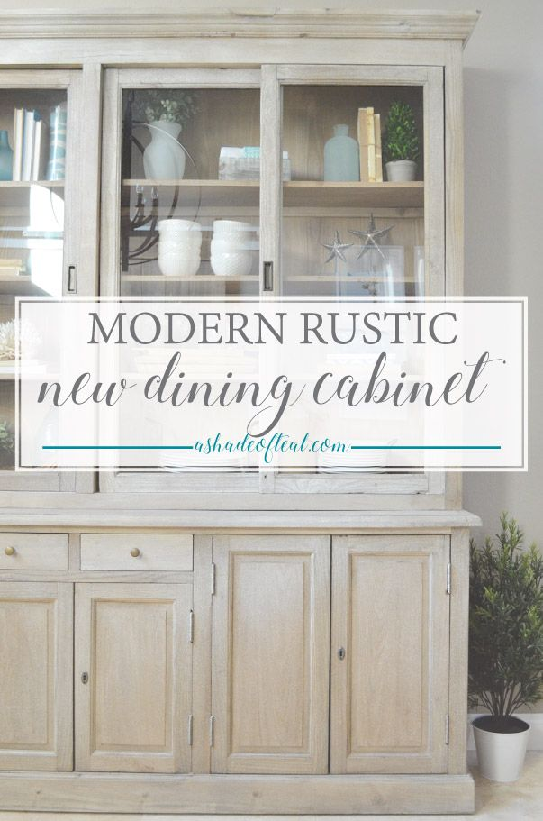 The Cranberry Cabinet Is A Perfect Addition To My NEW Modern Rustic Dining Room Find