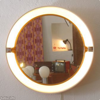 Espejo con luz Allibert años 70, 90 €