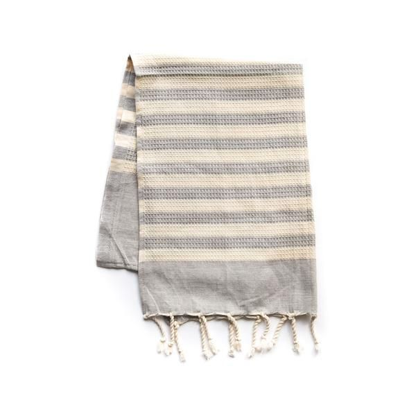 Striped Cotton Hand Towel - Grey - The Future Kept - 1