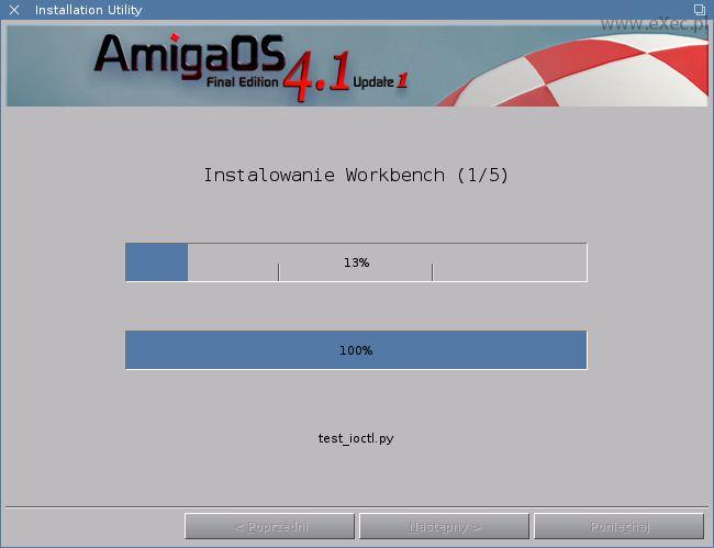 Przygotowaliśmy dla Was galerię obrazującą pełny przebieg instalacji Update1 dla systemu AmigaOS 4.1 Final Edition.