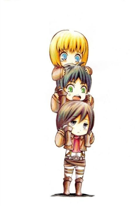 Stop panicking Eren, it's Mikasa, you won't fall heh.