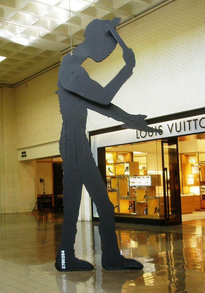 Hammering Man by Jonathan Borofsky at Northpark Mall in Dallas, Texas.