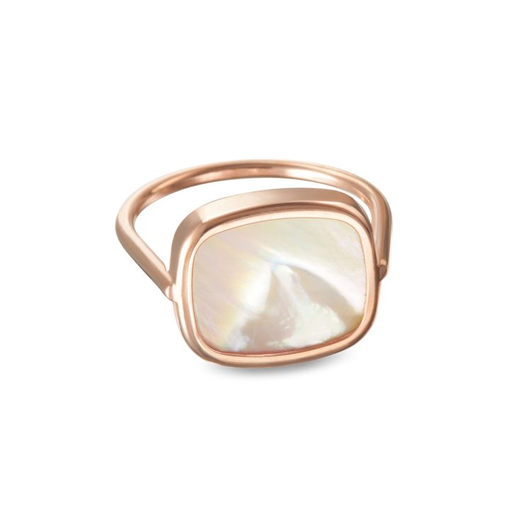 Bague Antique Mother of Pearl - Ginette-ny