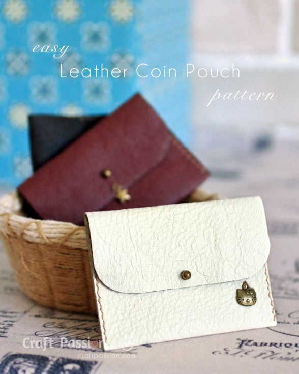 Sew leather coin purse with detailed tutorial and free pattern. You may use it as card pouch. Perfect gift to make for all occasion. – Page 2 of 2