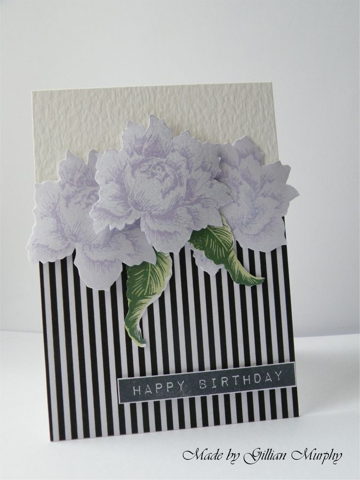 Altenew Peony Bouquet and Label Love stamps.