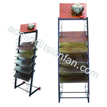 WD611 WHOLESALE HARDWOOD TILE FLOOR DISPLAYS RACK
