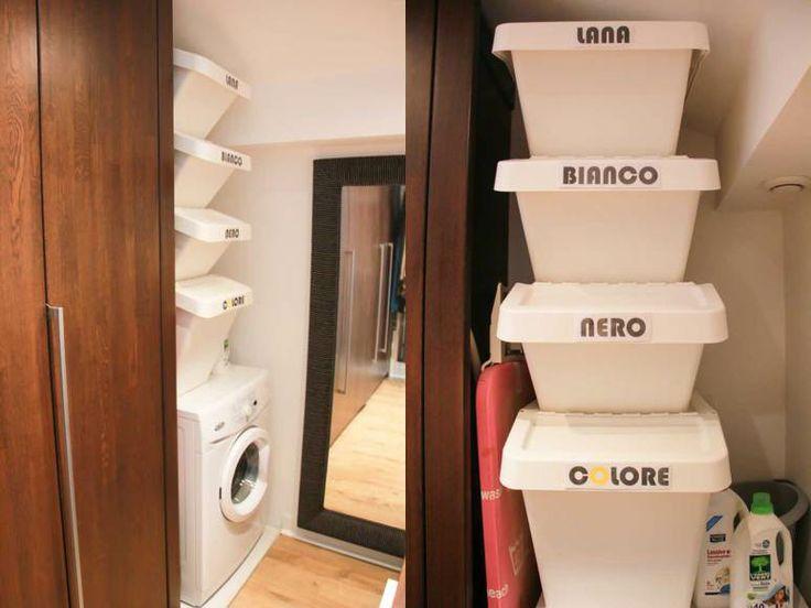 diy organiser son linge sale mini buanderie monday deco buanderies pinterest bac. Black Bedroom Furniture Sets. Home Design Ideas