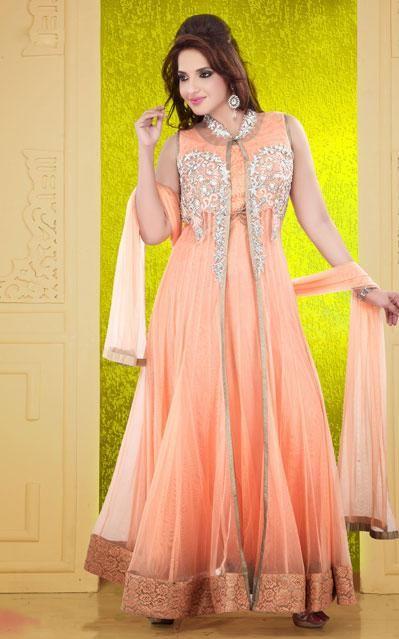 USD 214.97 Pitch Net Designer Ankle Length Ankle Length Anarkali Suit 37956