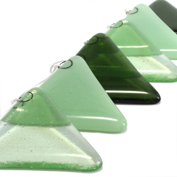 Glass Bunting - green