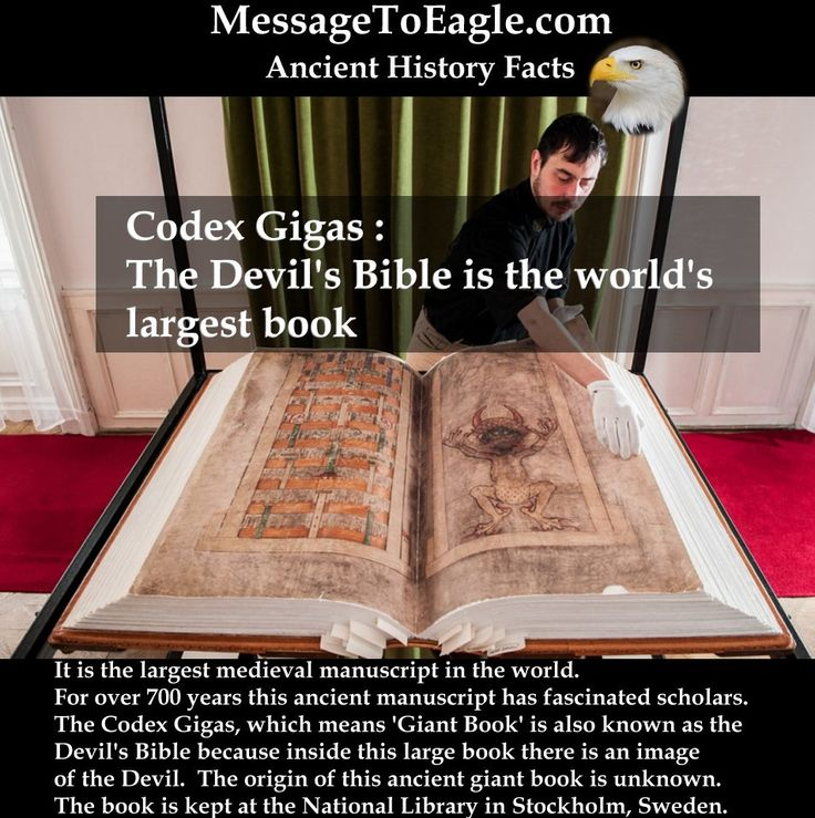 Ancient History Facts: Codex Gigas: The Devil's Bible is the world's largest book